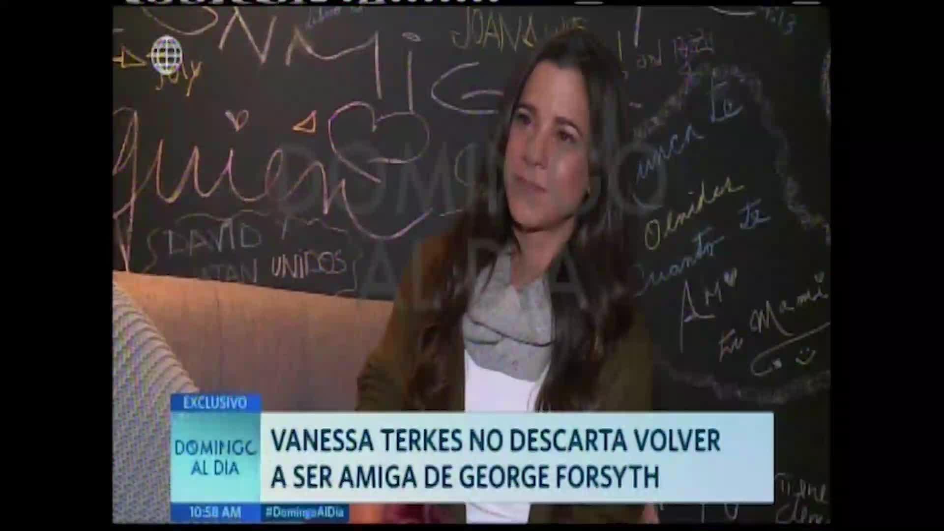 Vanessa Terkes no descarta una amistad con su ex esposo George Forsyth