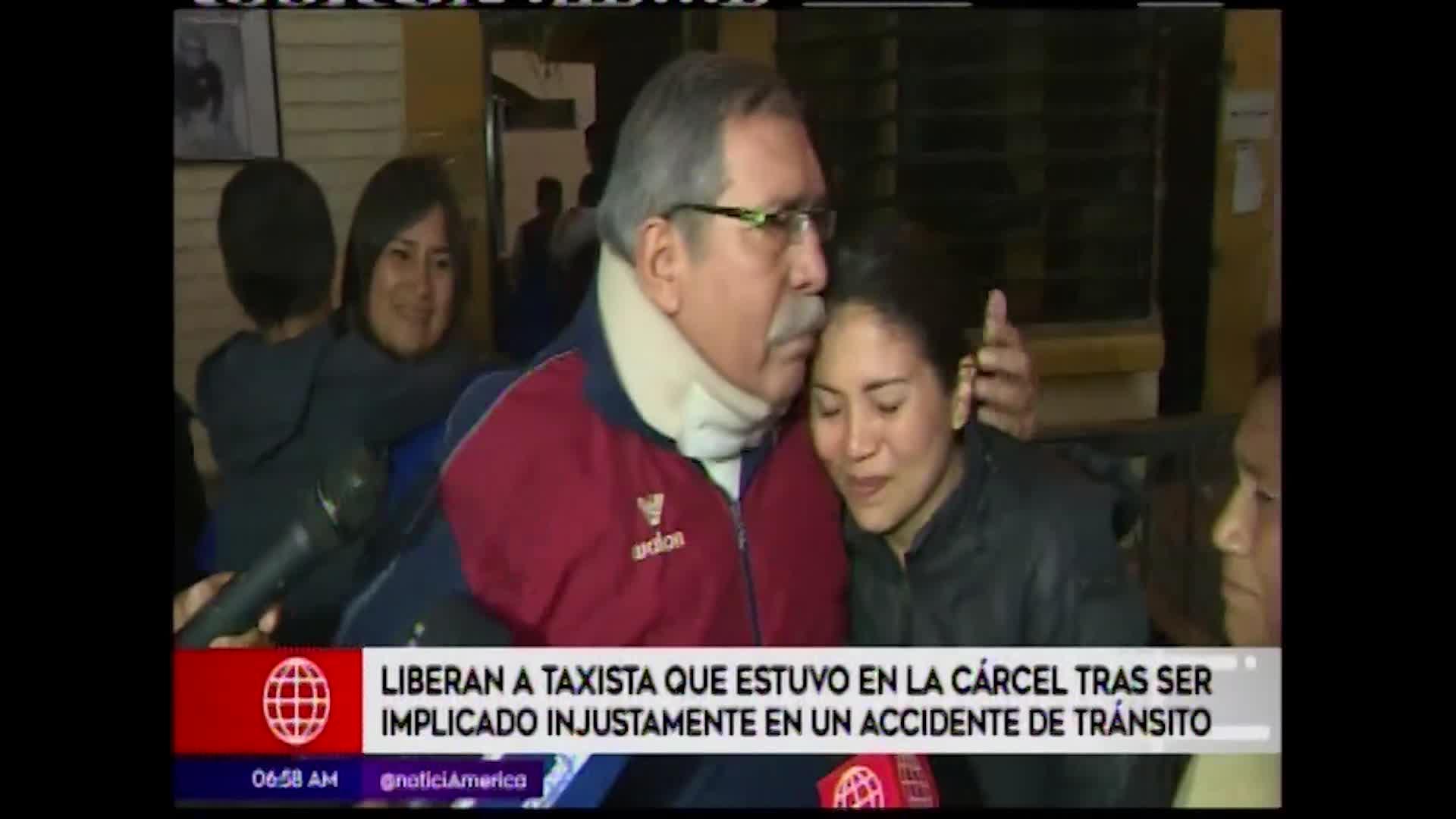 Liberan a taxista que terminó en prisión por accidente que no provocó