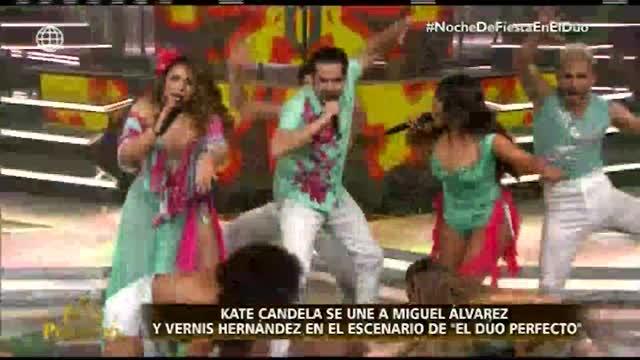 """""""El dúo perfecto"""": Vernis Hernández y Miguel Álvarez deslumbraron en el escenario con su presentación"""