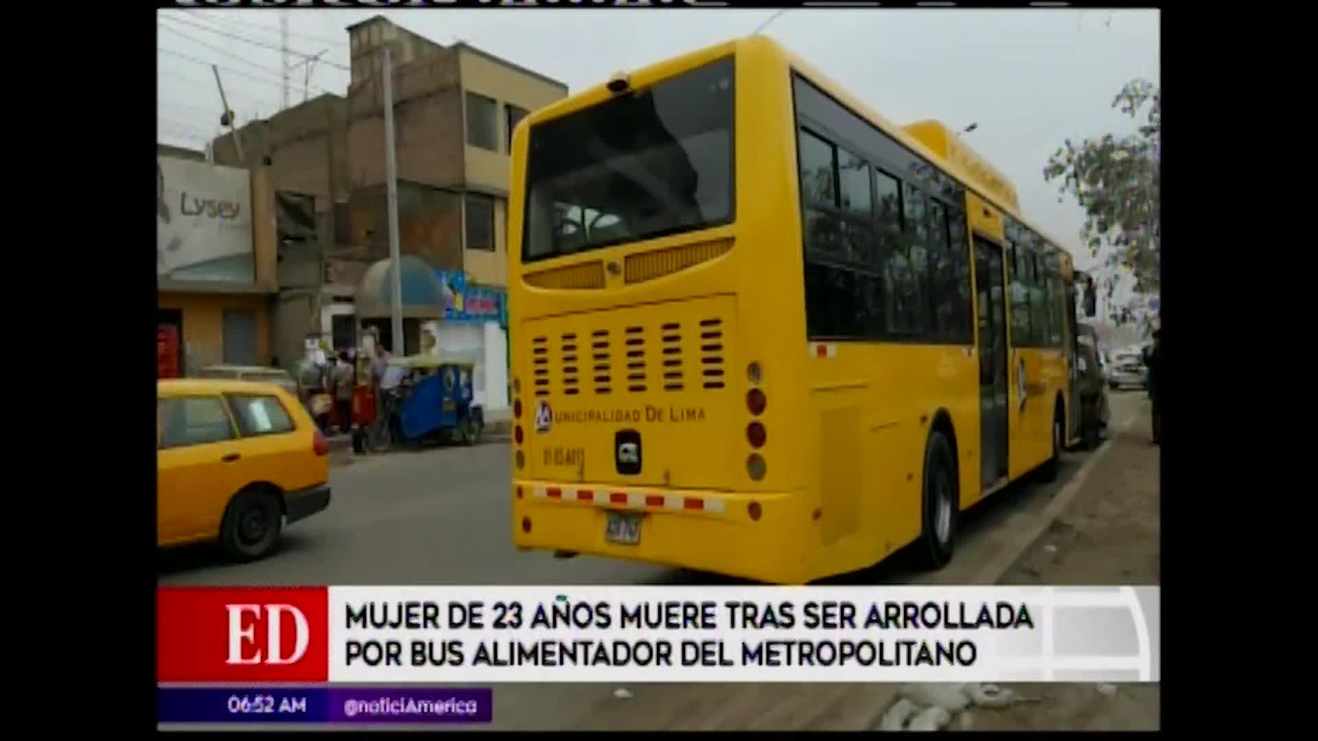 Comas: Joven murió luego de ser atropellada por bus alimentador del Metropolitano