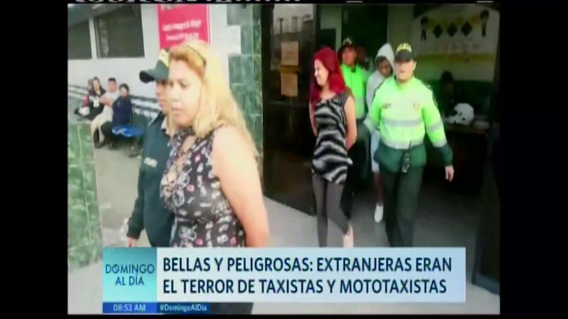 Extranjeras que pertenecían a organización criminal eran el terror de mototaxistas