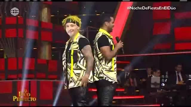 """""""El dúo perfecto"""": 'Zumba' y 'Giselo' divirtieron al público a ritmo de festejo"""