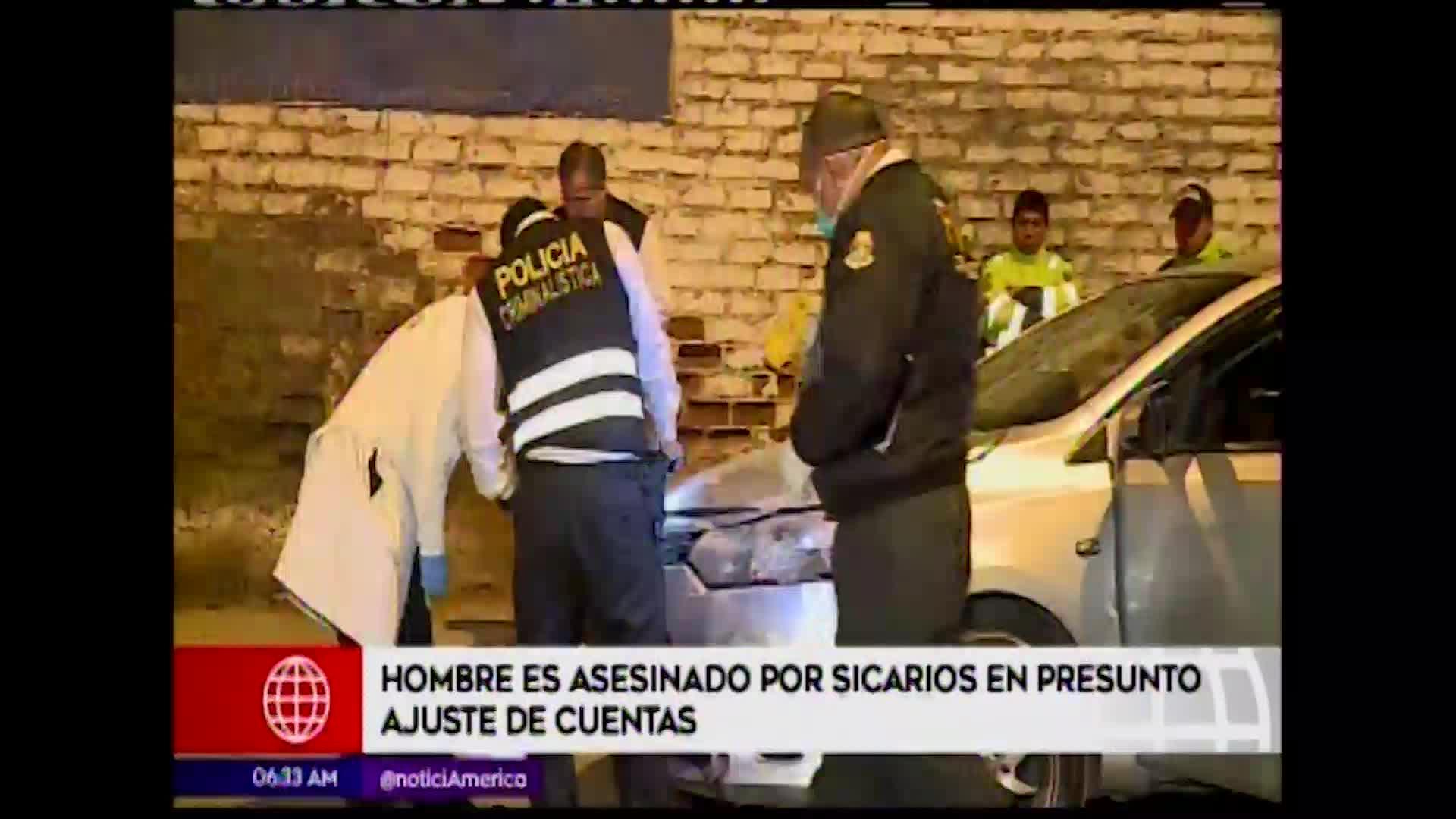 Ate: asesinan a balazos a hombre de 29 años
