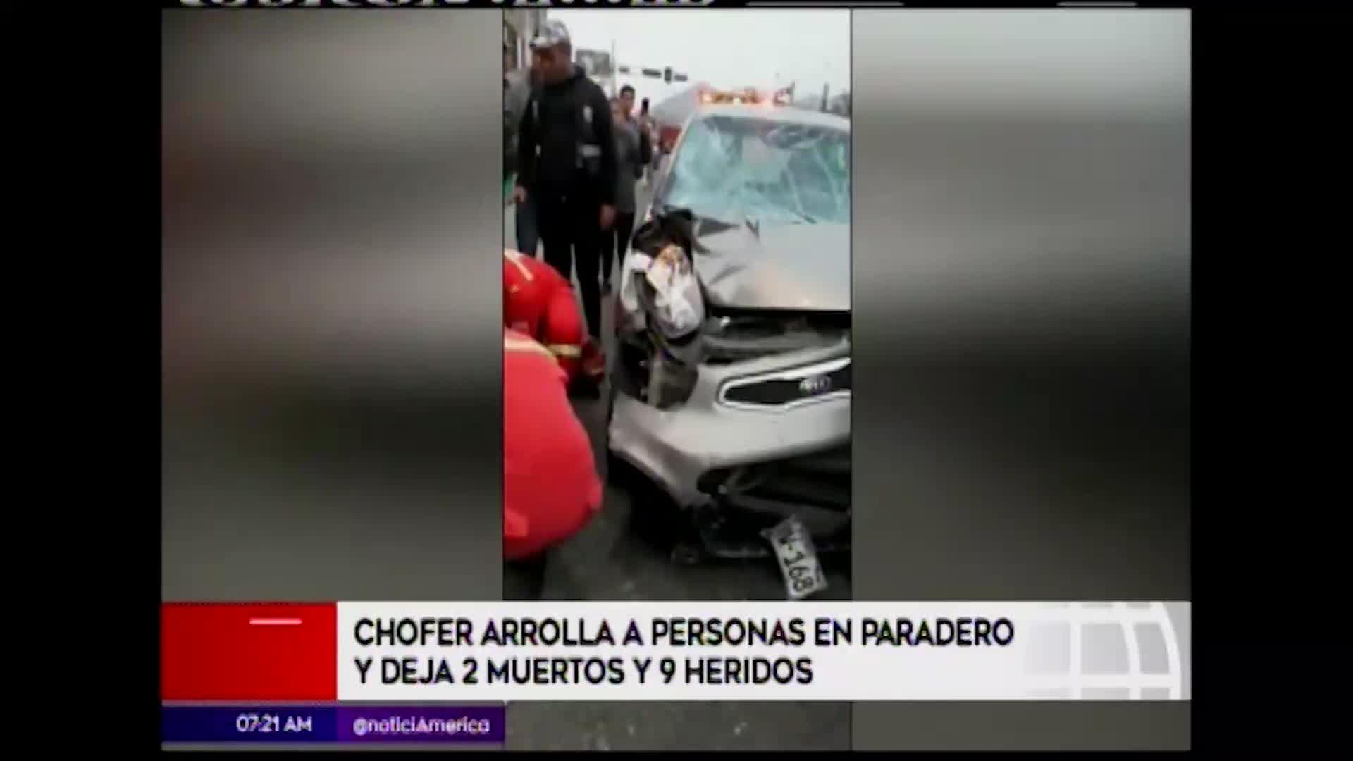 Independencia: chofer en estado de ebriedad causó muerte de dos personas y dejó 9 heridos