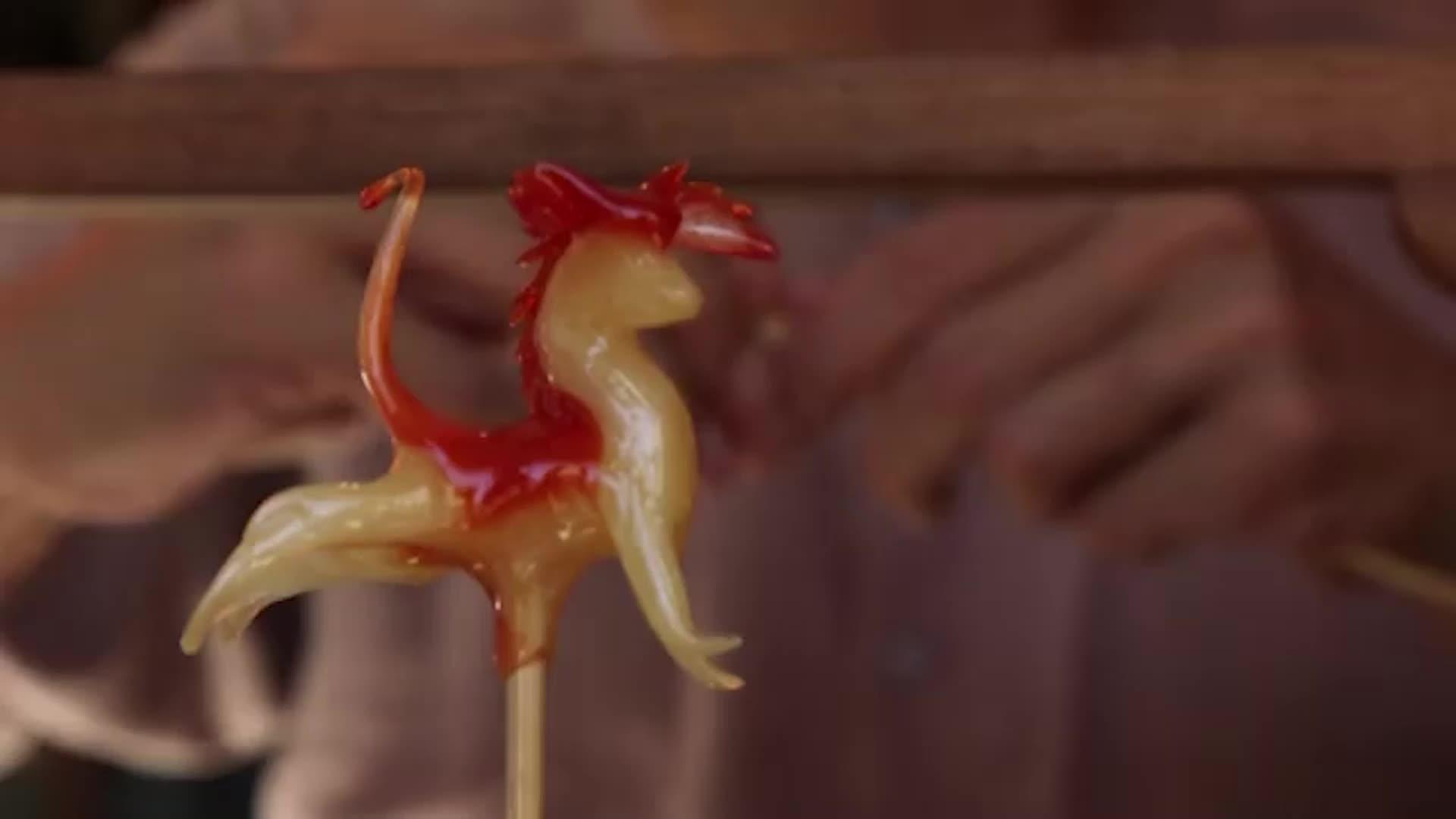 Caramelo, elemento para hacer arte en China
