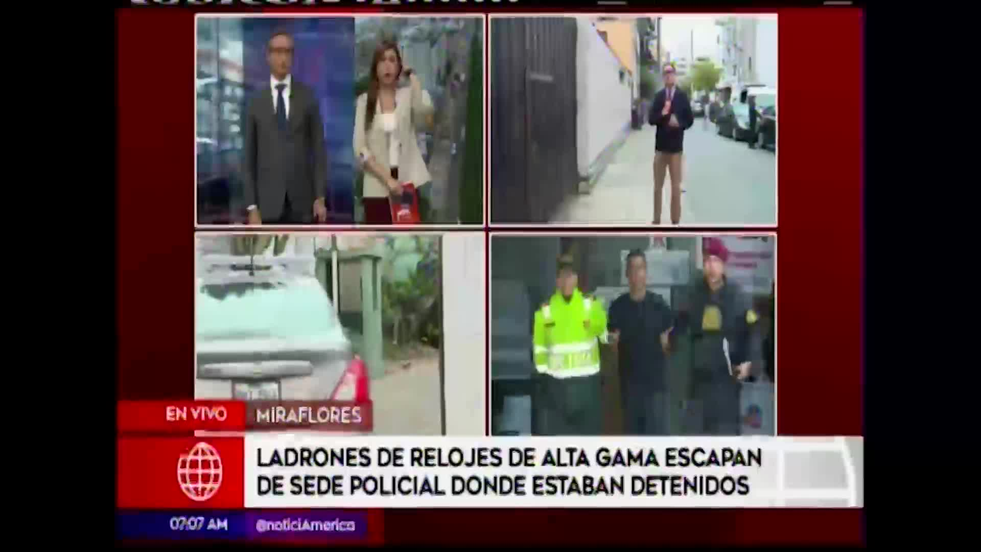 Miraflores: ladrones de relojes de alta gama escapan de sede policial