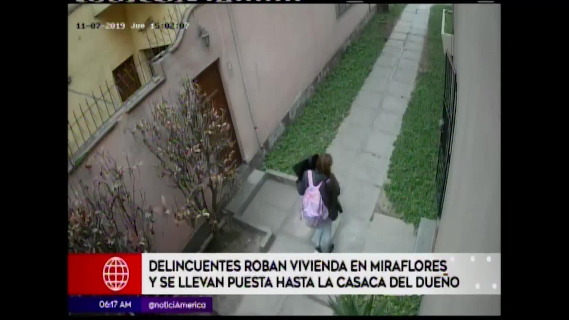 Miraflores: delincuentes asaltan vivienda a plena luz del día