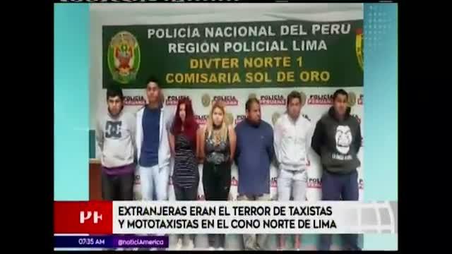 Lima Norte: extranjeras se hacían pasar como pasajeras para asaltar a taxistas