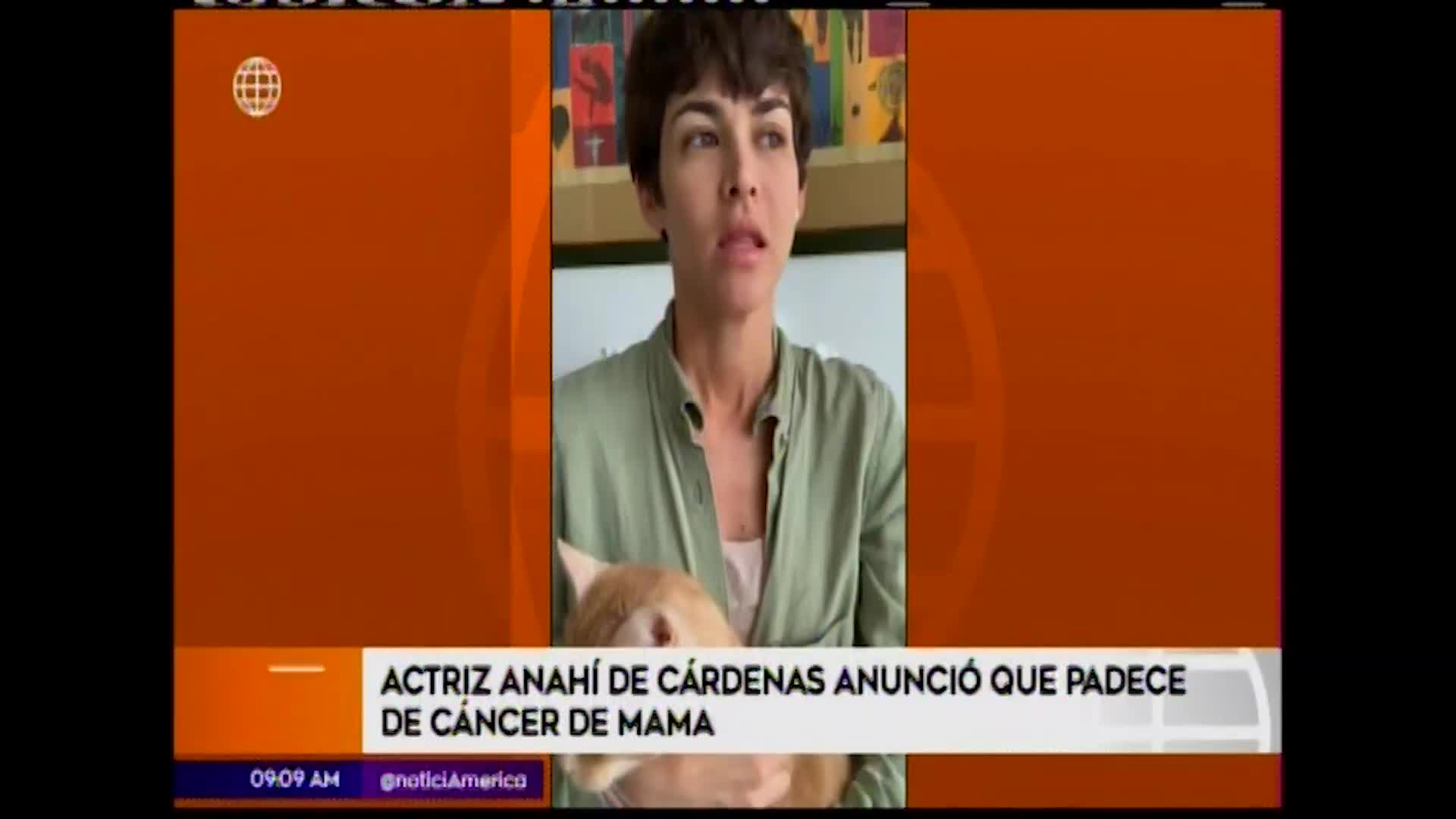Anahí de Cárdenas anuncia que sufre cáncer de mama