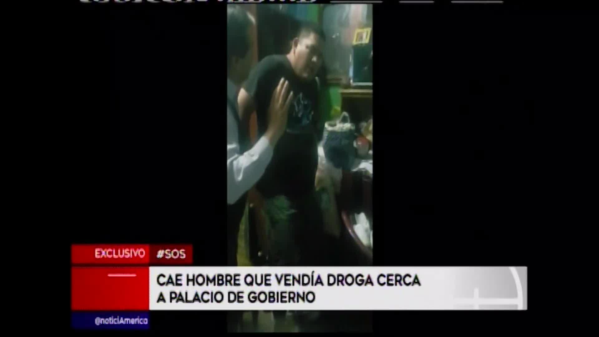 Cercado de Lima: capturan a sujeto que vendía droga cerca de Palacio de Gobierno