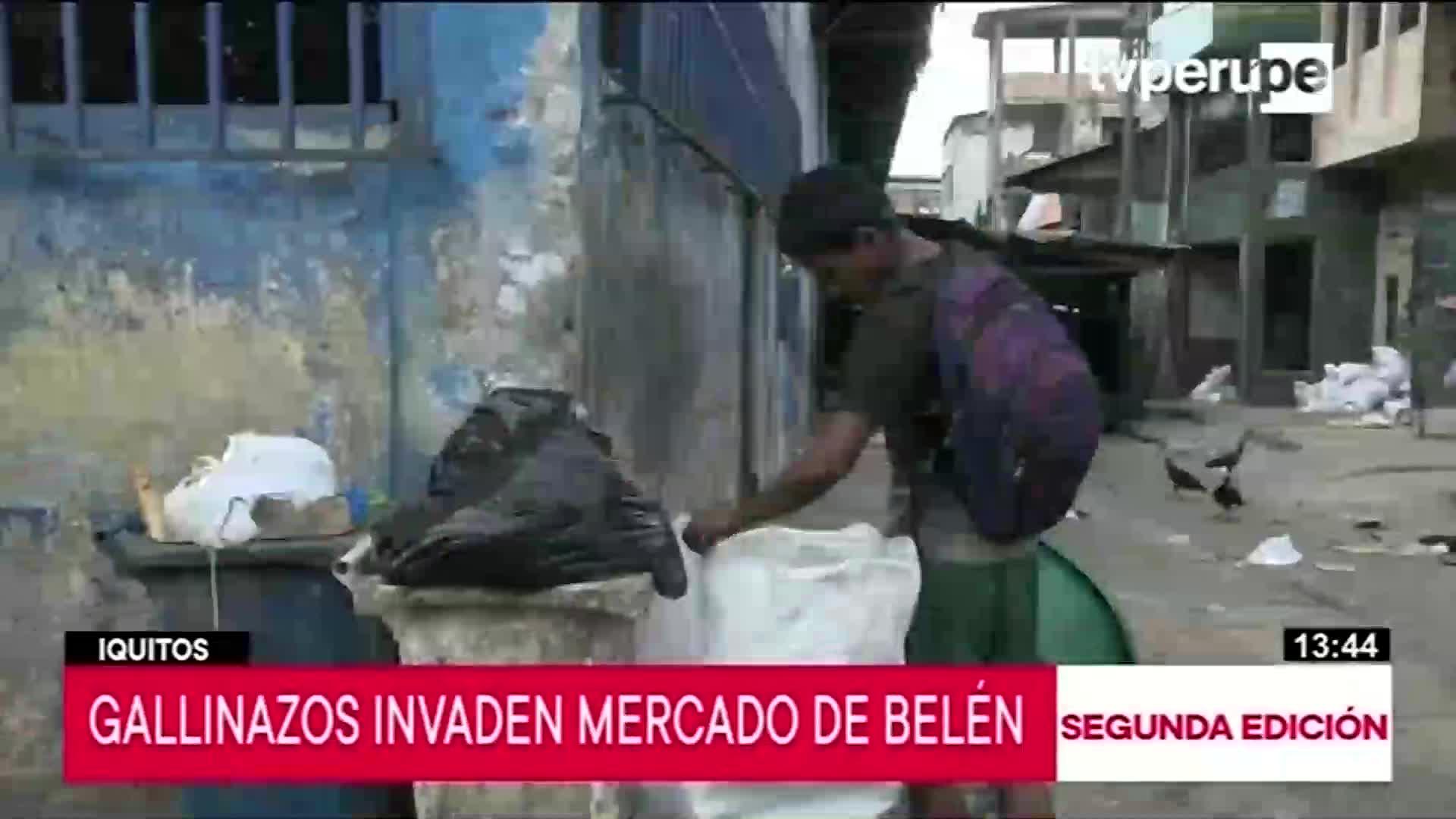 Iquitos: preocupación por foco infeccioso en mercado debido a la basura