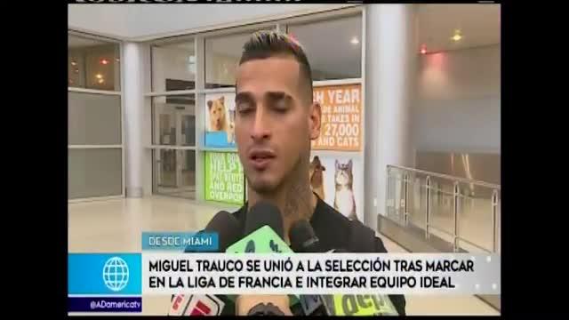 Miguel Trauco se sumó a la selección tras marcar gol con su club e integrar el once ideal de la Ligue 1