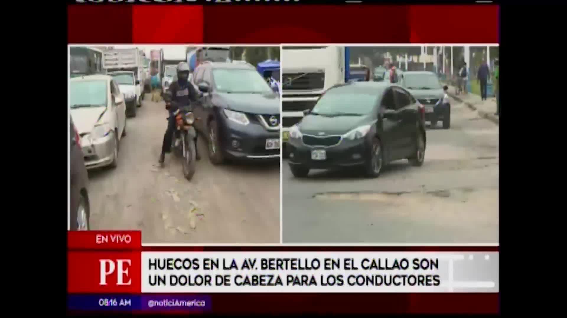 Callao: pistas en mal estado generan tráfico y accidentes