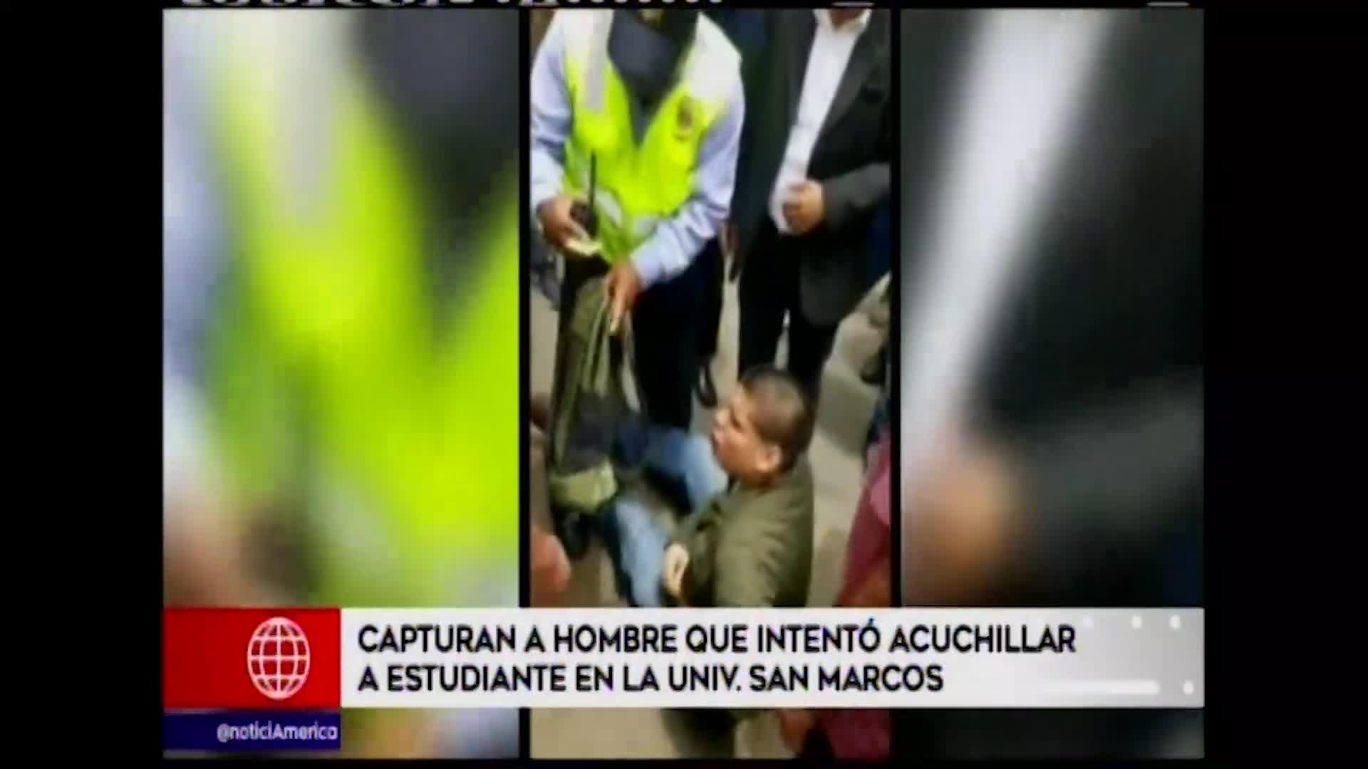 San Marcos: capturan a sujeto que intentó acuchillar a estudiante