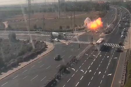 Cohete lanzado desde Franja de Gaza impactó en carretera israelí