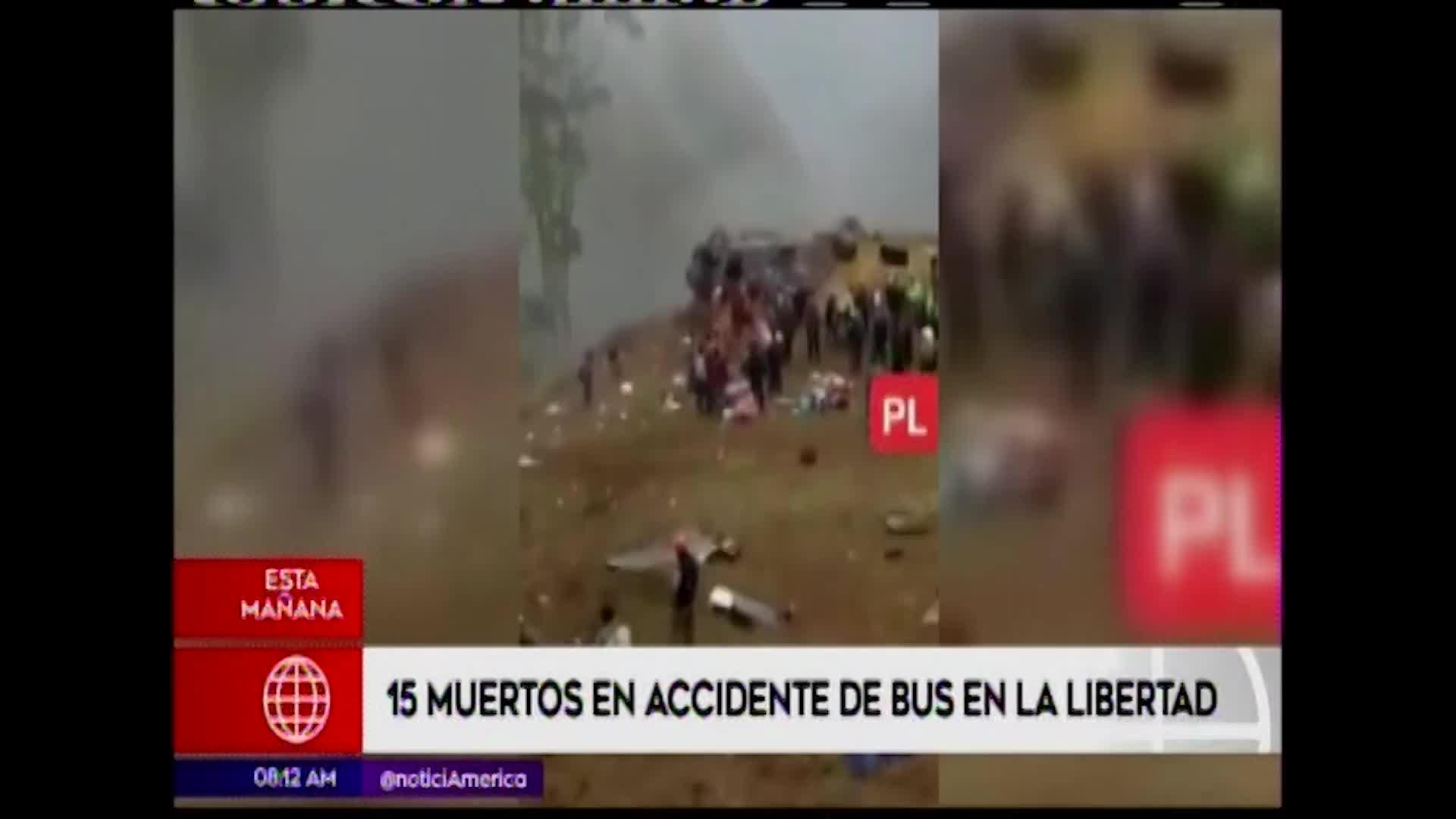 La Libertad: 15 muertos y varios heridos tras caída de bus a un abismo