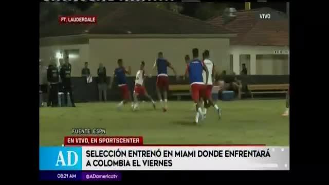 Perú entrena con Paolo Guerrero en sus filas
