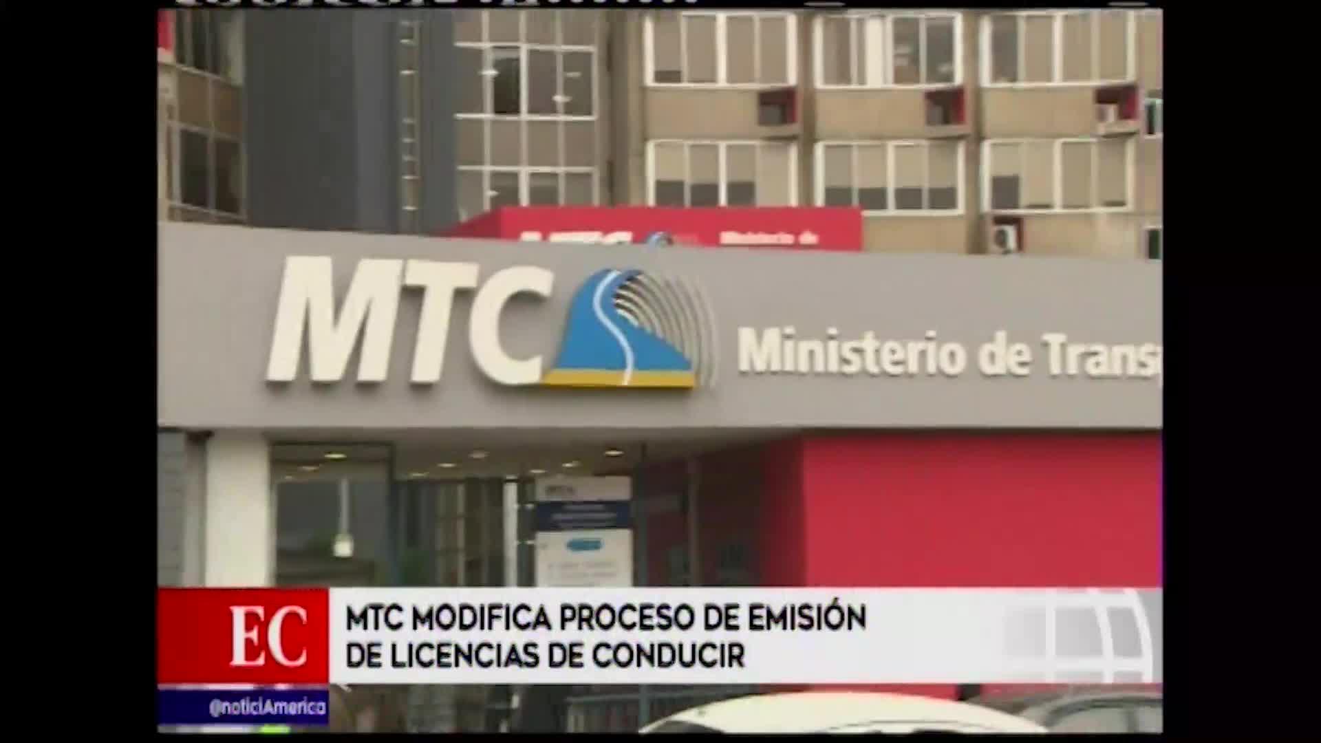 MTC modificó proceso de emisión de brevetes
