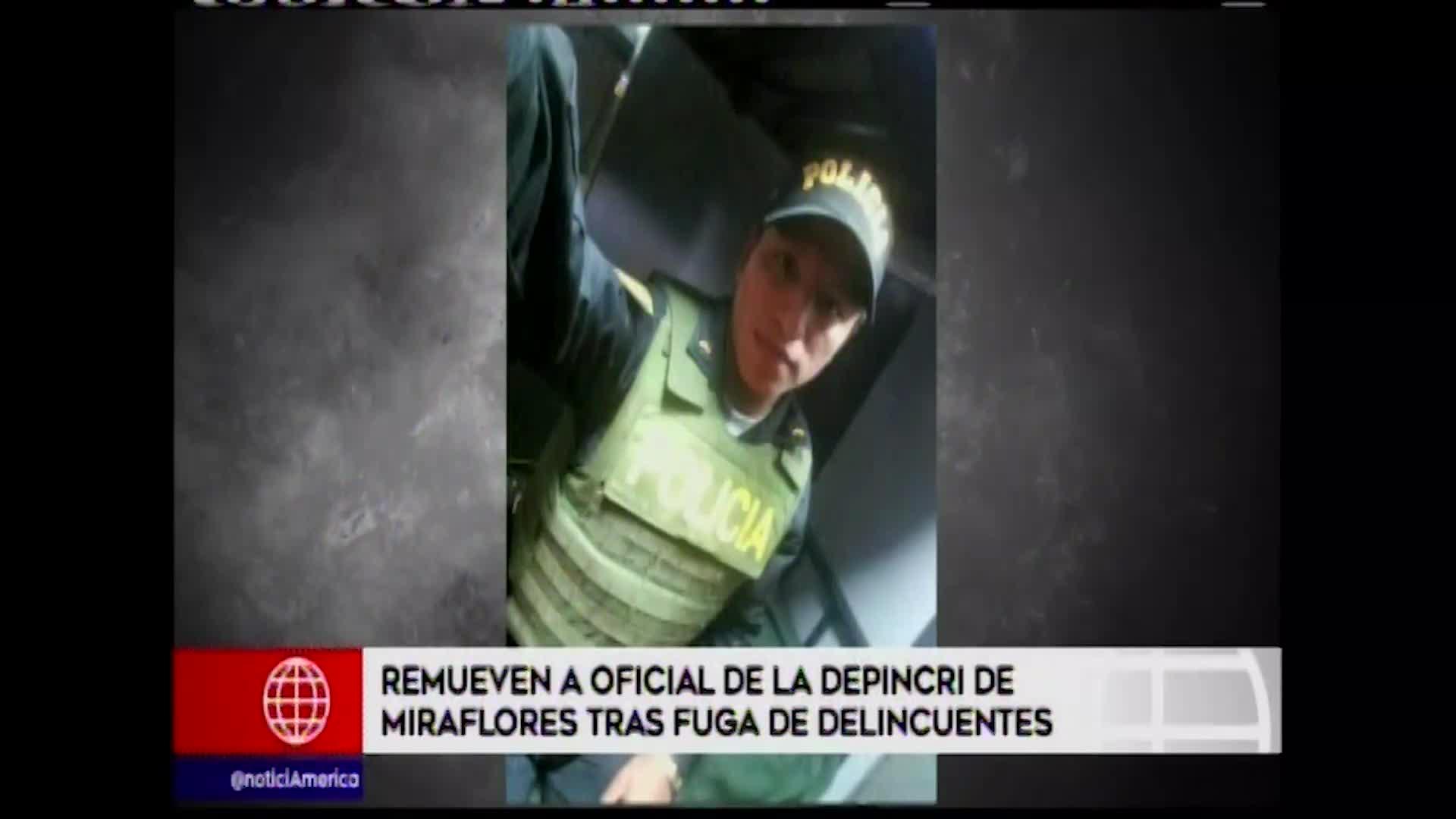 Miraflores: remueven a oficial de la Depincri tras fuga de tres ladrones