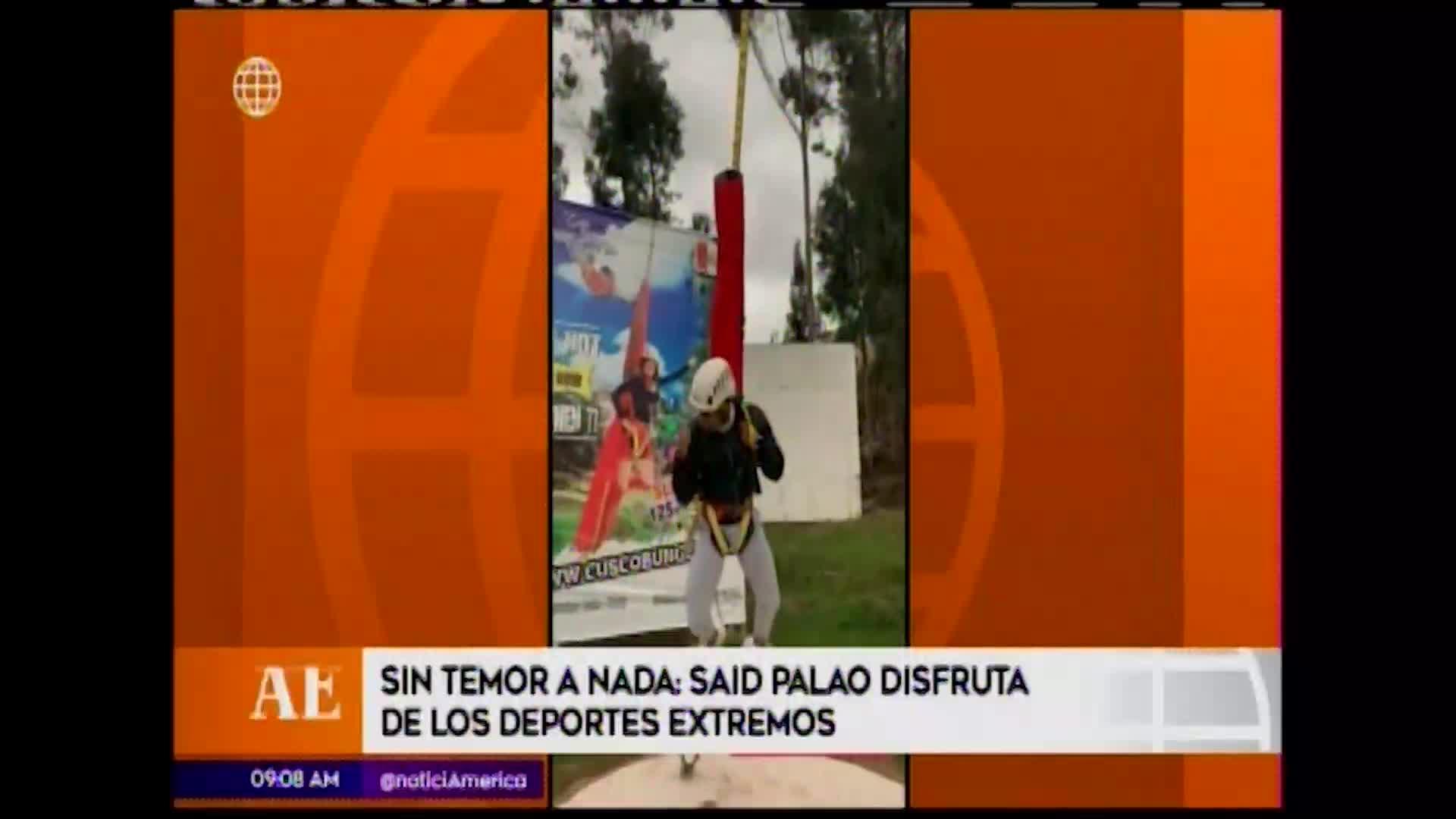 EEG: combatiente Said Palao realiza deportes de aventura extrema en Cusco