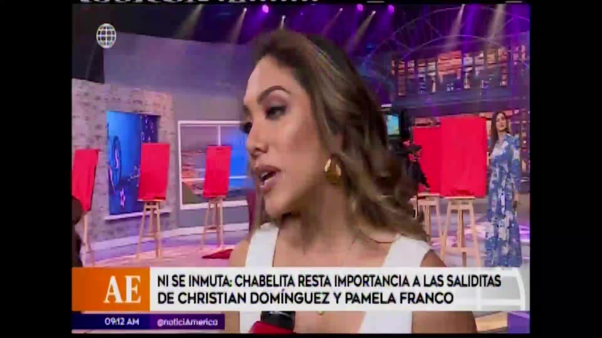 EBT: Isabel Acevedo prefiere no referirse a salidas de Christian Domínguez y Pamela Franco
