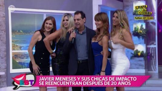 Javier Meneses se reencuentra con 'Chicas de Impacto'