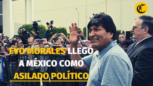 Evo Morales aceptó el asilo político ofrecido por México