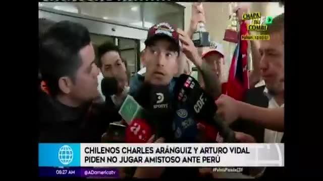 Seleccionados chilenos pedirían suspender amistoso ante Perú