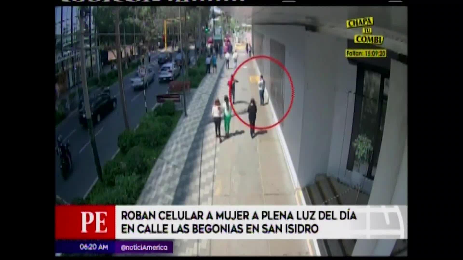 San Isidro: sujeto roba celular a plena luz del día en calle Las Begonias