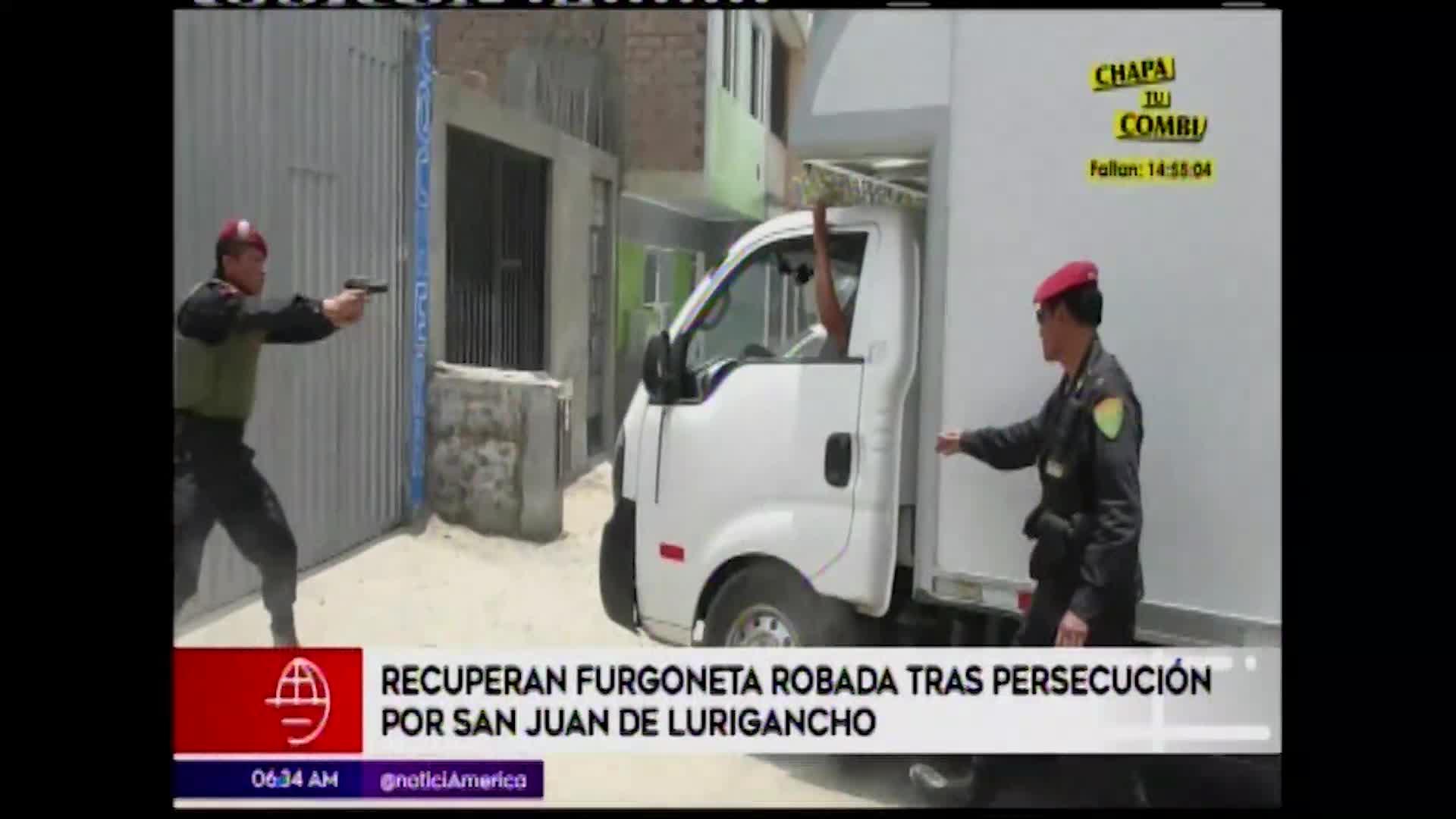 Policía detiene a delincuente que robó furgoneta en San Juan de Lurigancho