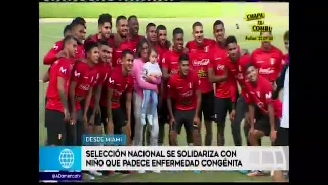 Selección peruana tuvo noble gesto con un menor que padece de una enfermedad congénita