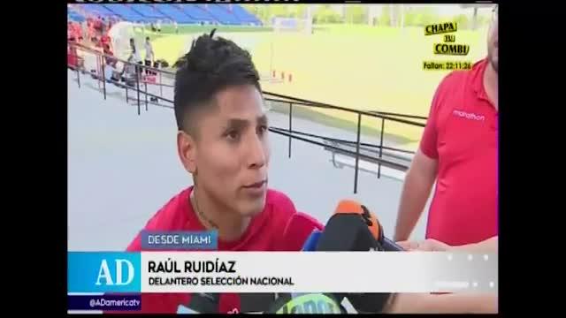 Raúl Ruidíaz se sumó a los entrenamientos de la selección tras corononarse campeón en la MLS