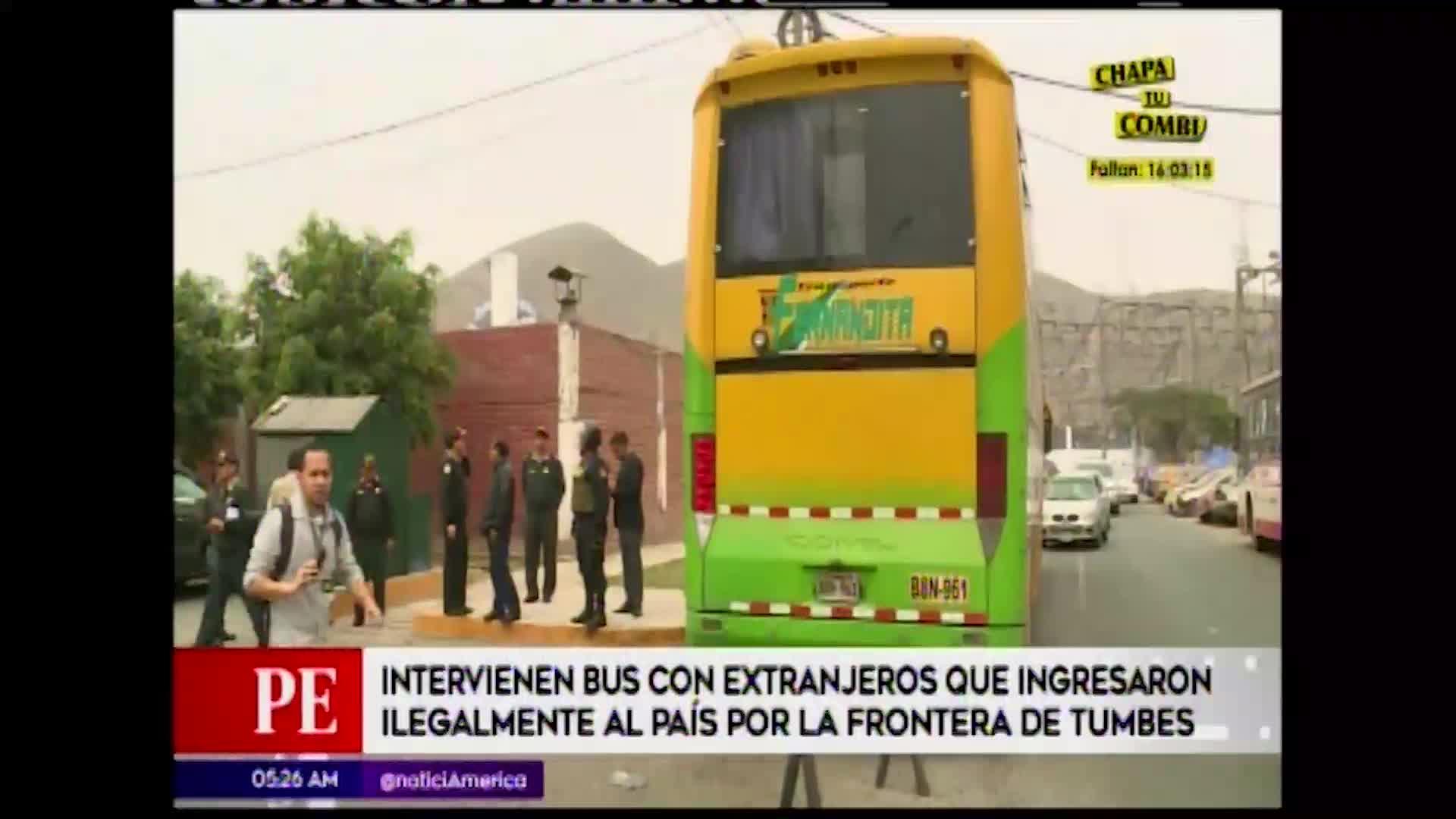 Policía intervino bus que llevaba extranjeros ilegalmente