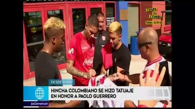 """Hincha colombiano se declaró fanático de Guerrero: """"Por mí que gane Perú con gol de Paolo"""""""
