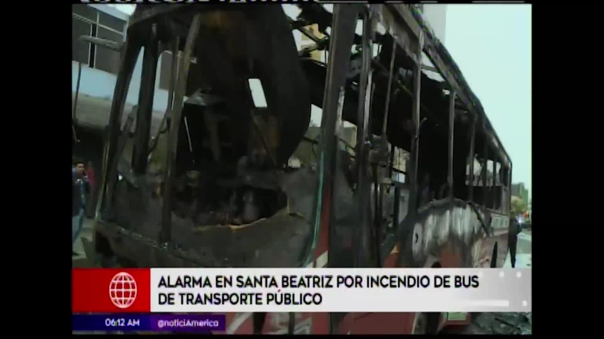 Lince: bus se incendió en la avenida Petit Thouars