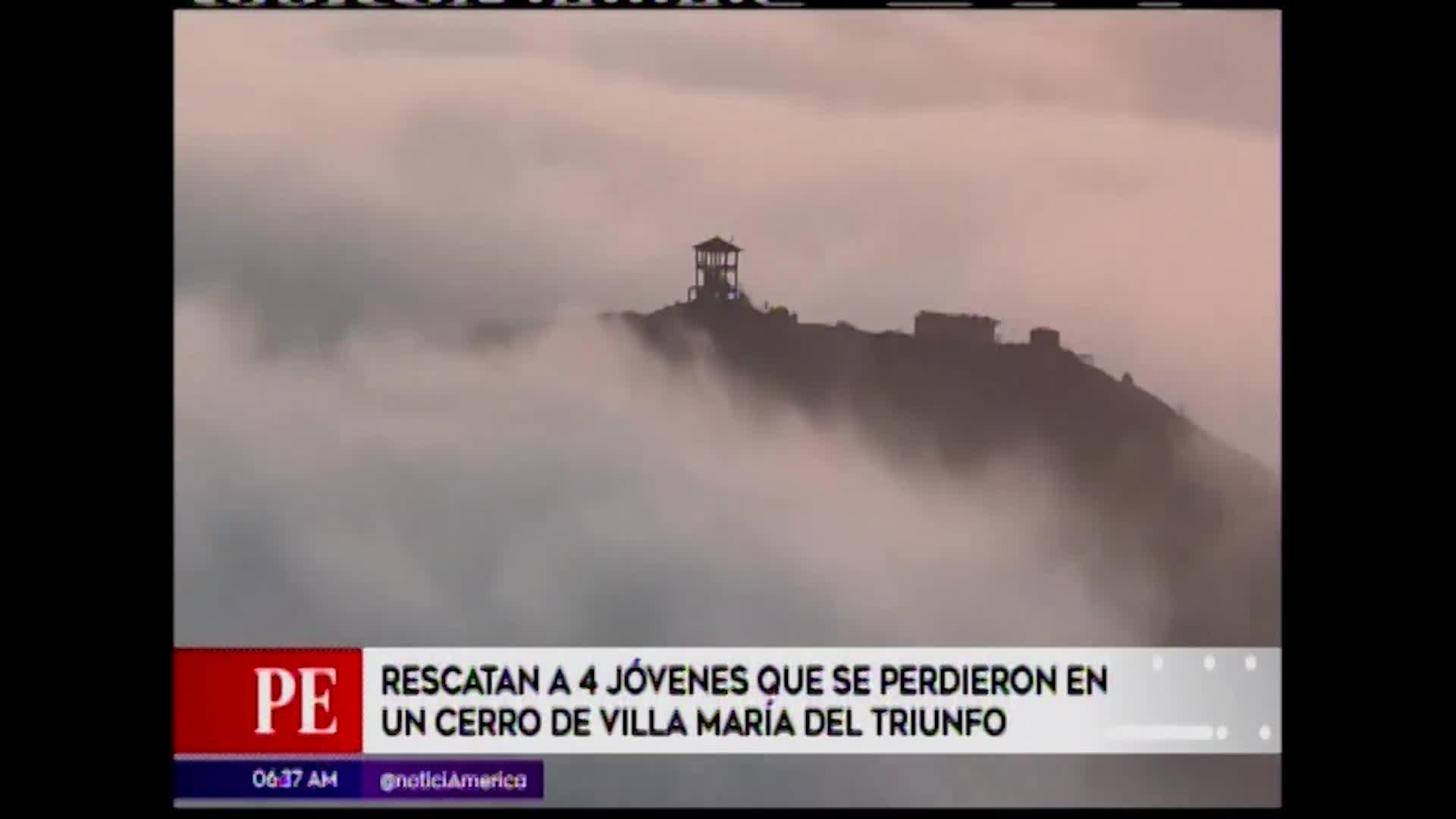 VMT: rescatan a cuatro jóvenes que se perdieron en un cerro