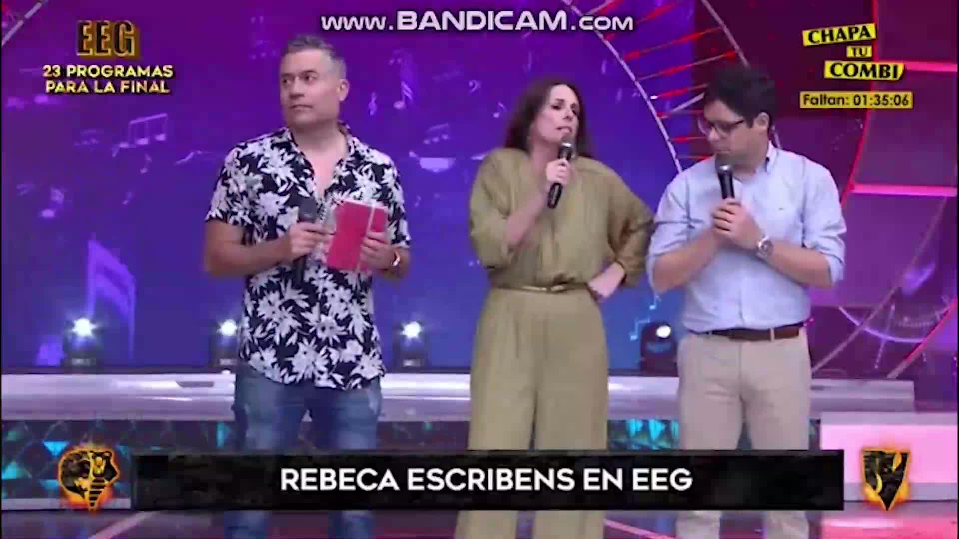 EEG: Rebeca Escribens reacciona al escuchar comentario del Tribunal