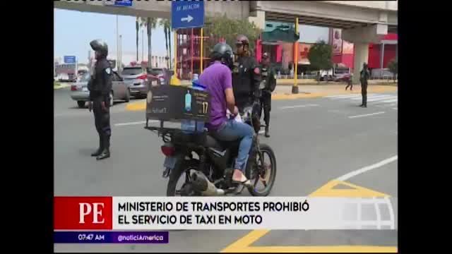MTC prohíbe servicio de taxi en moto y ordena el bloqueo de aplicativos
