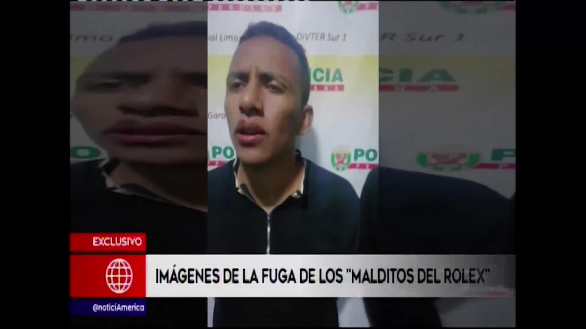 """Miraflores: imágenes exclusivas de la fuga de """"Los malditos del Rolex"""""""
