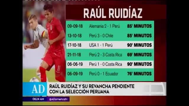 Raúl Ruidíaz buscará romper mala racha con Perú