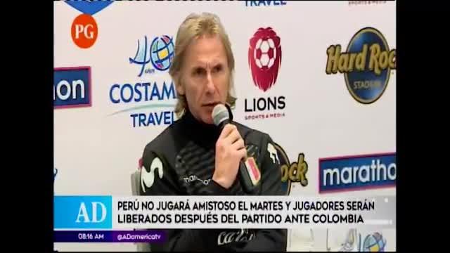 Gareca prefiere cerrar el año contra Colombia