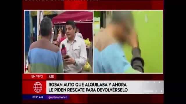 Ate: hombre denuncia extorsión para recuperar su auto robado