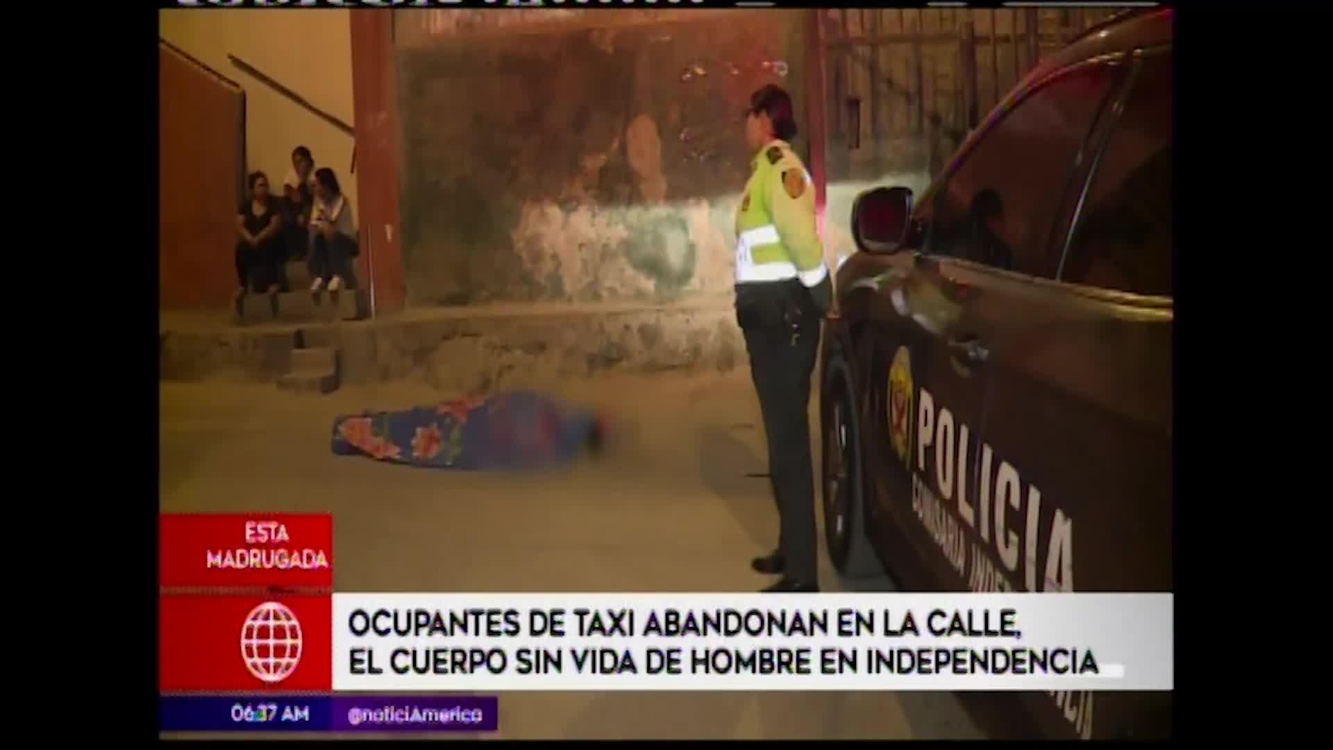 Independencia: abandonan restos de un hombre en plena vía pública