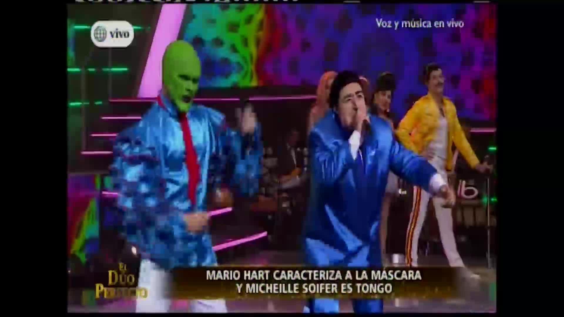 """""""El dúo perfecto"""": Michelle Soifer se transforma en Tongo y sorprende en el escenario"""
