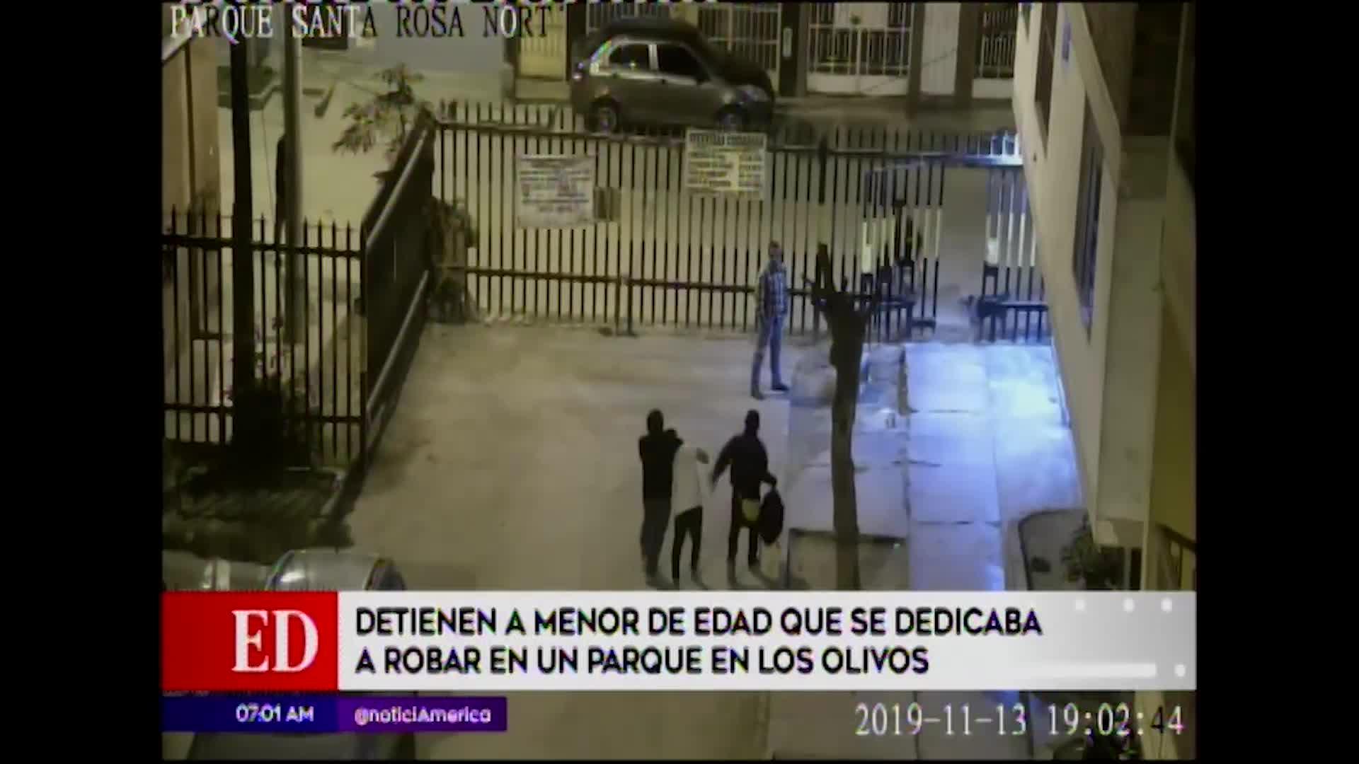 Los Olivos: efectivos capturan a joven que se dedicaba a robar en un parque