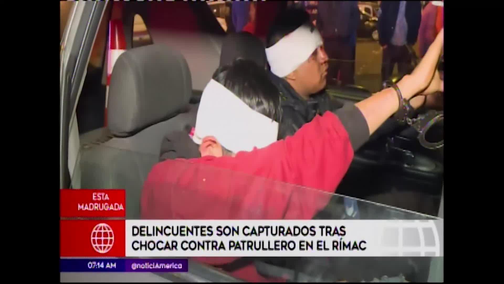 Rímac: delincuentes son capturados tras ardua persecución