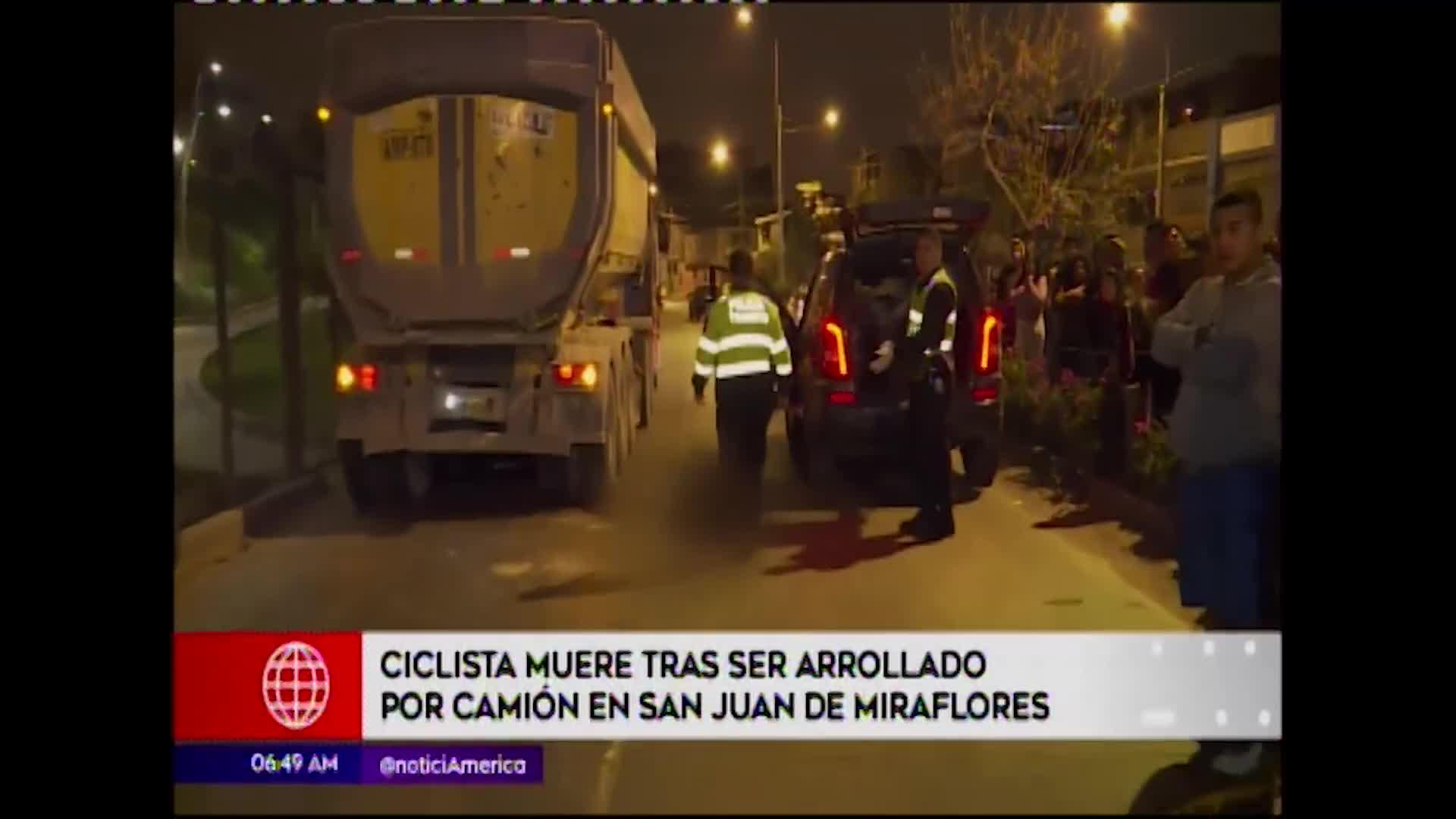 SJM: camión atropella a ciclista y le provoca la muerte
