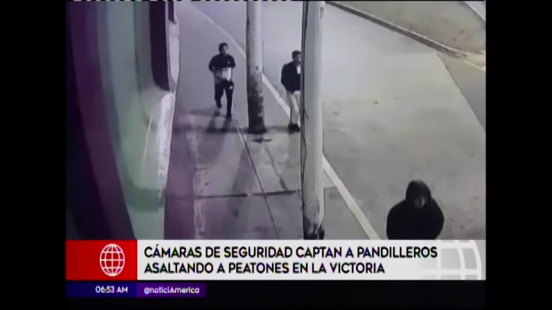 La Victoria: cámaras de seguridad registran robos a peatones