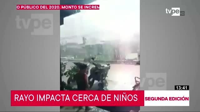 Yarinacocha: menores salvan de morir tras caída de rayo