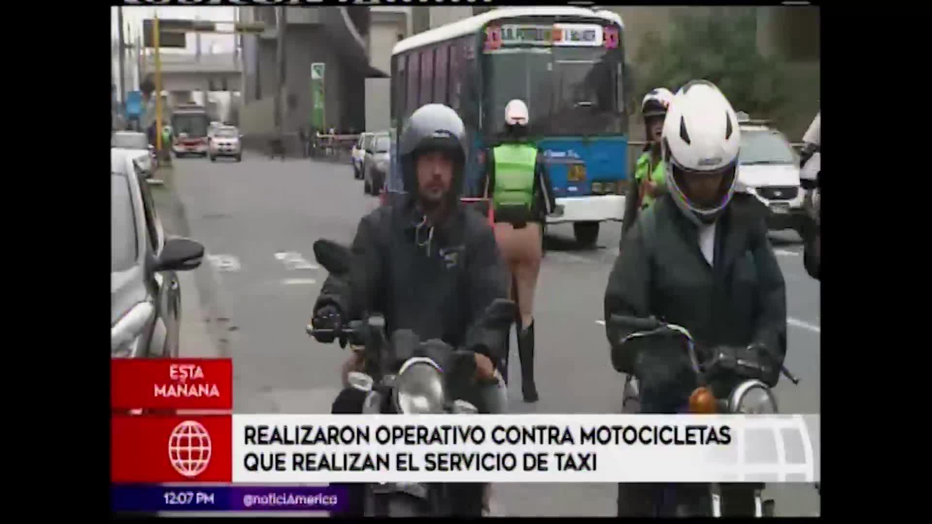Surco: realizan operativo contra servicio de taxi en moto lineal